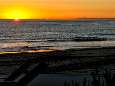 Gorgeous winter sunset with Catalina Island to your right. Taken from front deck