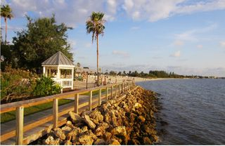 Tampa townhome photo - Waterfront board walk & view of the private Beach