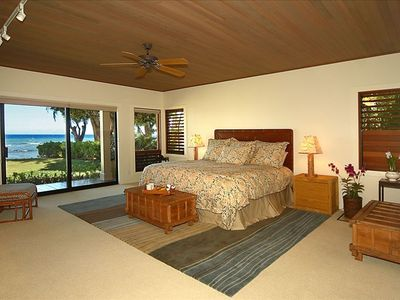 The Kohala Master suite with lanai and a great ocean view