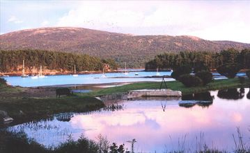 Somesville house rental - This is the view from 'Willowbrook' looking to the beginning of Somes Sound