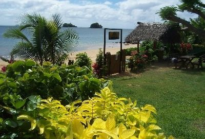 Taveuni cottage rental - View from your bure to the beach
