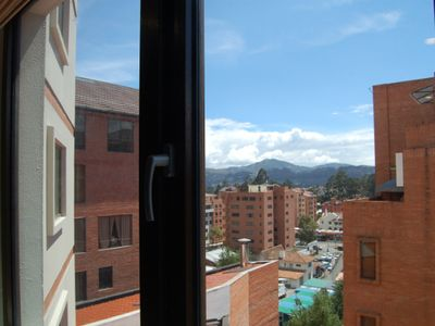City and mountain view from 2nd bedroom window.