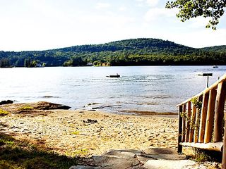 Brant Lake farmhouse photo - Beautiful Sandy Beach, Ideal for Swimming and Wading