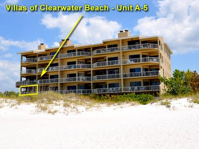 The Villas of Clearwater Condominiums, view from beach.
