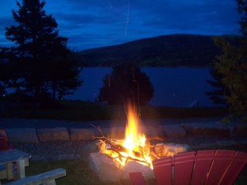 Bar Harbor cottage rental - At Dusk, settle in beside the firepit and wait for the stars to come out!