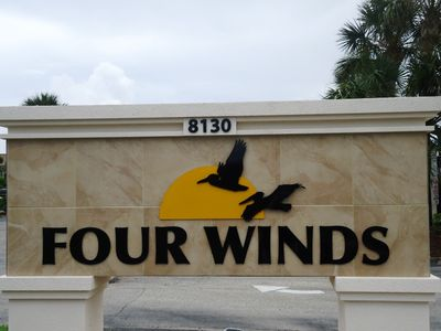 Four Winds Entry Sign on A1A
