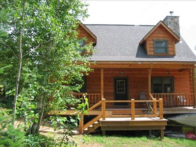 Serene Log Home located in Chequamegon National Forest