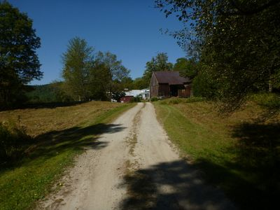 Driveway from Barn to House.