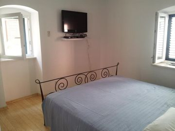 Bedroom 1 - Large Super King Size Bed, 32 Inch TV with DVD & Satellite TV