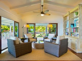 Hanalei house photo - Great Room Garden View and Ocean Views