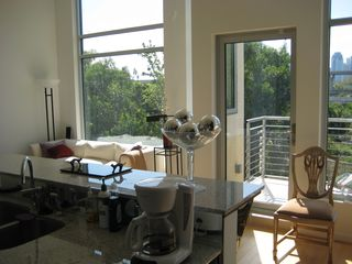 kitchen view of downtown skyline - Houston condo vacation rental photo