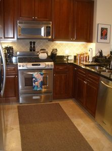 Blue Mountain Beach condo rental - Fully equipped Cherry Kitchen including Wine Cooler for the discerning Chef!