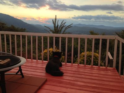 Even our dog loves the sunset!