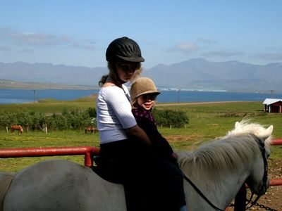 Reykjavik farmhouse rental - Horse ride for kids