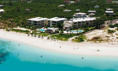 Providenciales - Provo condo rental - Coral Gardens from the air
