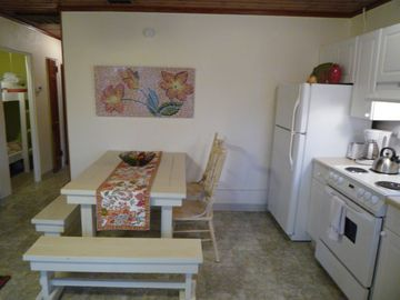 Kitchen with Farmers Table & Chairs
