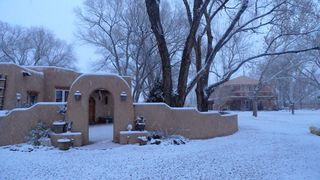 Albuquerque house photo - Snowy day. (studio towards the rear)