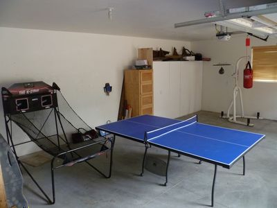 Lots of games in the garage, and room for a car.