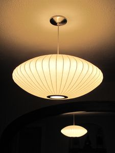 Austin house rental - Nelson Bubble Lamps add a modern touch