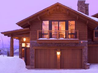 Teton Village lodge photo - Warm and inviting at sundown