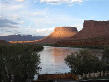 Sunset on the Colorado River near Castle Valley