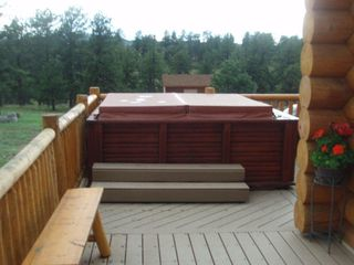 Florissant cabin photo - Hot tub on deck