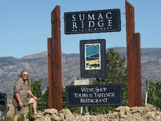 Kelowna house photo - Ken at Sumac Ridge winery tour there are lots of Valley wineries to visit.