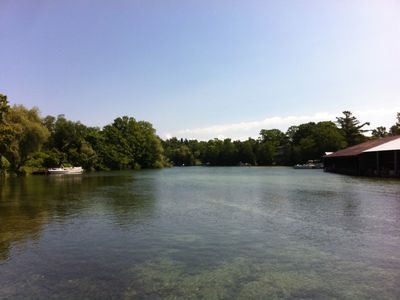 The Leland River which leads to pristine Lake Leelanau is only 1/2 mile away