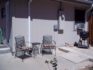 Prescott studio photo - Private patio area just outside your door.
