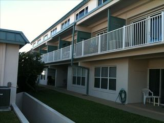 New Smyrna Beach condo photo - 3rd unit in. 1st floor. Short walk down path by few condos then beach view/pool.