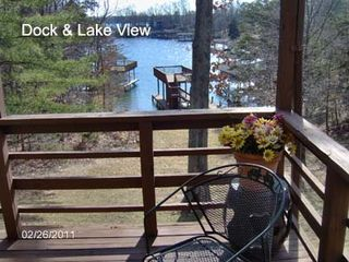 Huddleston property rental photo - Covered deck
