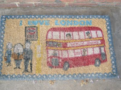 My welcoming 'I love London' mat