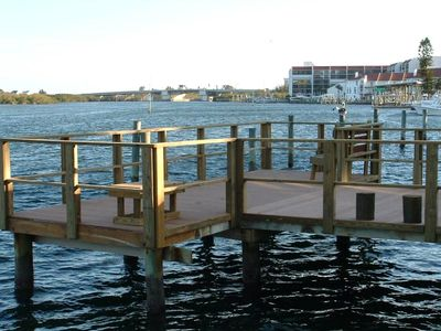 Private fishing dock.  Great saltwater fishing and bird watching!