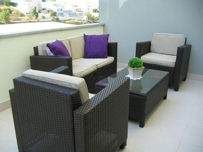 Sofa rear patio