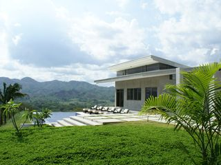 Nicoya house photo - Infinity Pool with depth from 3 feet to 9 feet, located just above Guest House