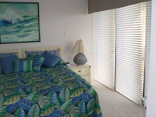South Padre Island condo photo - Master Bedroom with unobstructed floor to ceiling view of ocean / King Bed