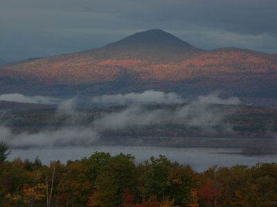 Fall foliage: no better place to relax on the deck and take in the amazing view