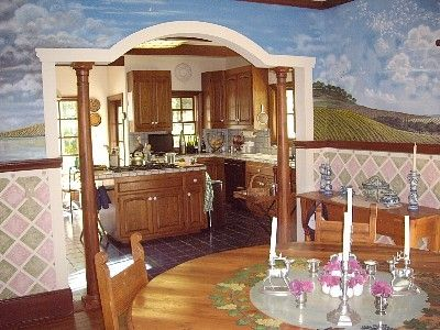 Large kitchen with adjoining breakfast room