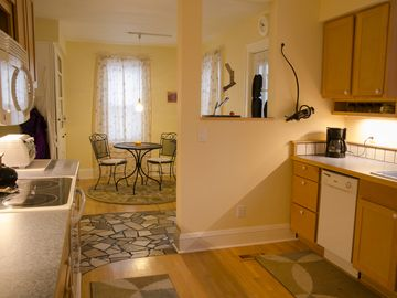 St Paul house rental - The kitchen and breakfast nook provide a very homey-feel.