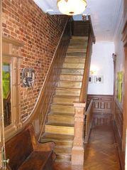 Brooklyn townhome photo - Main Entrance: Exposed brick; original woodwork; alabaster light fixtures