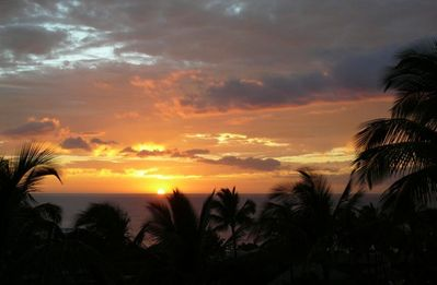 January sunset from your private lanai