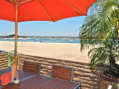 Your patio view and access right to the beach