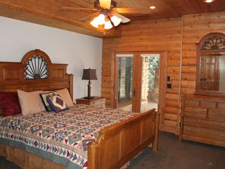 Sundance cabin photo - Basement King. Patio door to lower deck/hot tub.