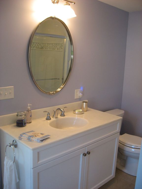 Powder room, full bath room, 1st floor, just off the front door