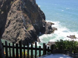 Mendocino house photo - View of Whitewater Cove from spa