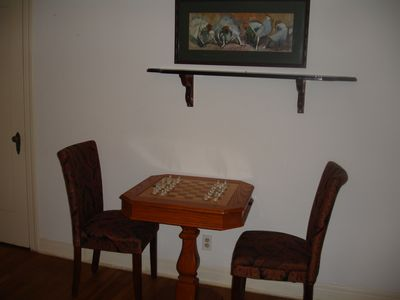 Austin cottage rental - chess table