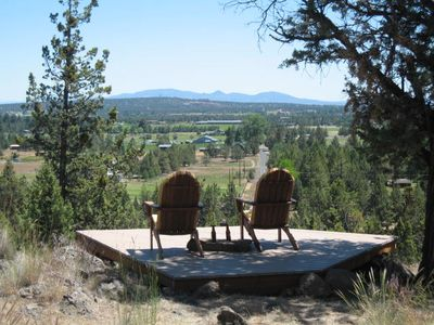The Lookout Deck awaits!  BYOB (beverages) Those are the Ochoco mtns out there.