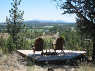 Bend house photo - The Lookout Deck awaits! BYOB (beverages) Those are the Ochoco mtns out there.
