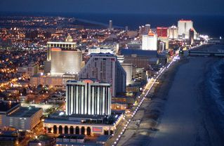 Atlantic City townhome photo - The Atlantic City Boardwalk at Night! Just minutes away!