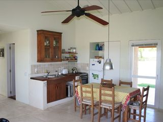 Maldonado farmhouse photo - KITCHEN AREA, INDOOR TABLE FOR 6.
